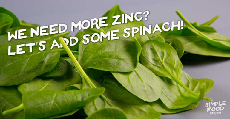 We Need More Zinc? Let's Add Some Spinach!