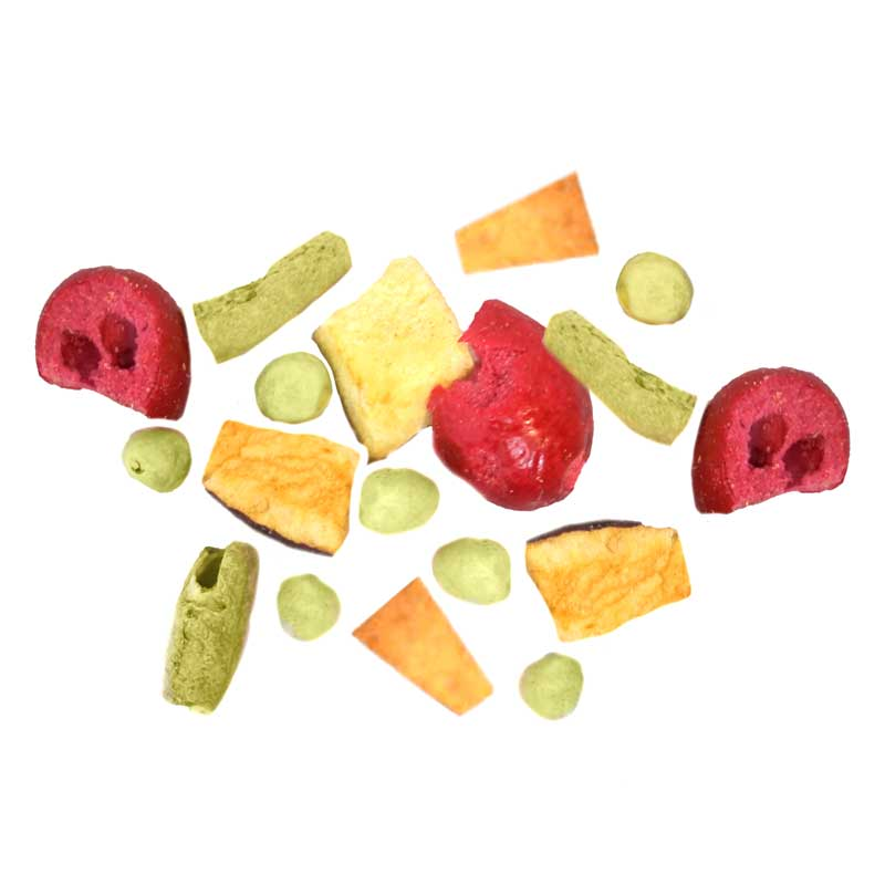 chopped fruits and veggies