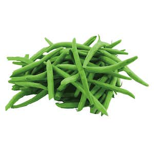 pile of fresh green beans