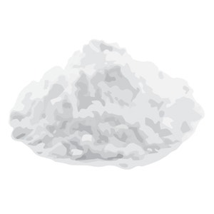 pile of potato starch