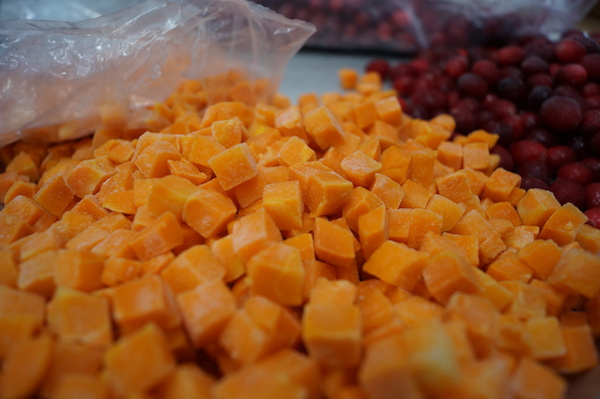 Chopped Carrots & Cranberries
